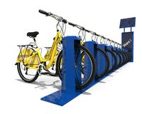Bike Sharing station concept Stock Photo