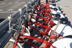 Bike sharing station stock images