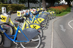 Bike sharing in Vienna Royalty Free Stock Photos