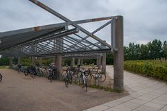 Bike shed in Ballerup Denmark. Bike shed in town of Ballerup Denmark Stock Images