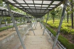 The bike shed beside the Shenshan Garden (wuhu, china) Stock Photo