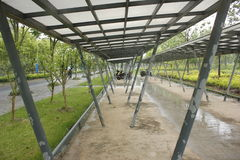 The bike shed beside the Shenshan Garden (wuhu, china) Royalty Free Stock Photography