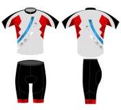 Bike shirt sport low poly color Stock Photos