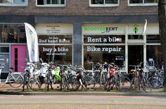 Bike shop in Amsterdam Stock Photos