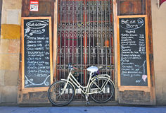 Bike at the shop, Barcelona, Spain Royalty Free Stock Image