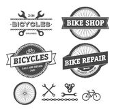 Bike shop and repair emblems Stock Image