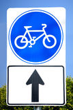 Bike sign Royalty Free Stock Image