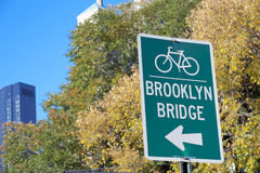 Bike sign New York City Royalty Free Stock Images
