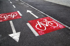 Bike sign path Royalty Free Stock Photos