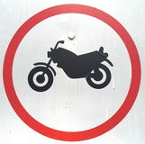 Bike sign. In red circle Stock Photography