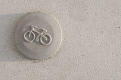 Bike sign Royalty Free Stock Image