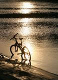 Bike silhouette Royalty Free Stock Photography