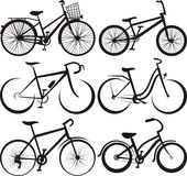 Bike - silhouette and the outlines royalty free illustration