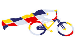 Bike Silhouette Pop Art Style Royalty Free Stock Images