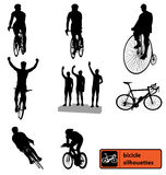 Bike silhouettes collection Royalty Free Stock Image