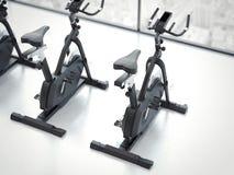 Bike simulator in modern interior. 3d rendering Royalty Free Stock Photos