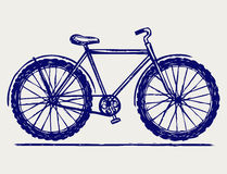 Bike sketch. Doodle style. Vector Royalty Free Stock Photography