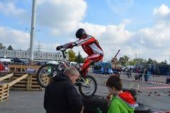 Bike skill demonstration 8 Stock Image