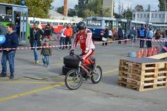 Bike skill demonstration 15 Stock Images