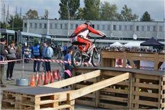 Bike skill demonstration 23 Stock Image