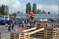 Bike skill demonstration 24 Royalty Free Stock Images