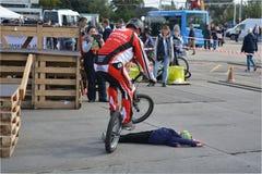 Bike skill demonstration 33 Royalty Free Stock Photo