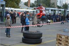 Bike skill demonstration 36 Stock Image