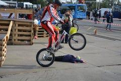 Bike skill demonstration 38 Royalty Free Stock Photo