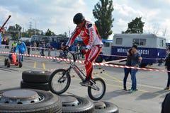 Bike skill demonstration 39 Stock Image