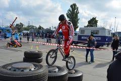 Bike skill demonstration 54 Royalty Free Stock Photo