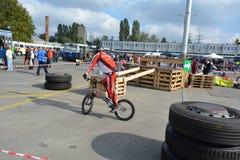 Bike skill demonstration 57 Stock Image