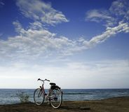 Bike and sky Stock Images