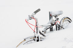 Bike in the Snow Royalty Free Stock Image