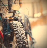Bike in the snow Stock Image