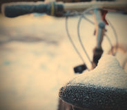 Bike in the snow Royalty Free Stock Images