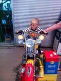 Bike, son, family, belarus , shop. Shopping in Vitebsk Royalty Free Stock Photo