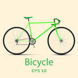 Bike. Speed racing bicycle. Vector illustration Stock Images