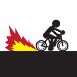 Bike Speeding Flame Royalty Free Stock Photos