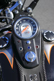Bike Speedometer. Detail from a bike Speedometer in a summer day Royalty Free Stock Photos