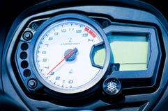 Bike speedometer. From a speedy motorbike Stock Images