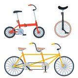 Bike sport bicycles vector transport style old ride vehicle summer transportation illustration hipster romantic travel. Bike sport bicycles vector transport Stock Photography