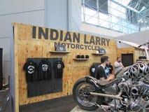 Bike stand. 2015 New York International Auto Show. Royalty Free Stock Photos