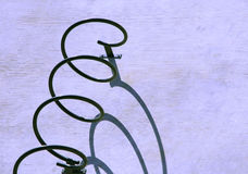 Bike stand with shadow Royalty Free Stock Image