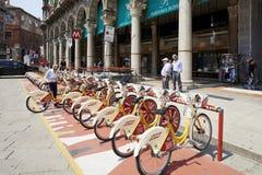 Bike station sharing Stock Photos