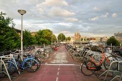 Bike Storage Garage, Amsterdam, Holland Stock Photography