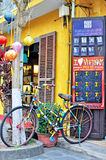 Bike at the store in Hoi An, Vietnam royalty free stock photos