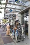 Bike store Vancouver BC street Royalty Free Stock Image