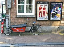 Bike in the street of Amsterdam Royalty Free Stock Photos