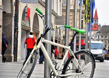 Bike on the street of Munich Stock Photos