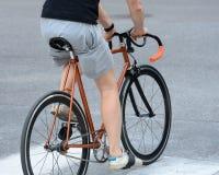 Bike on street Royalty Free Stock Image
